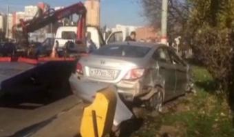 В Химках Hyundai Solaris насмерть сбил пешехода, стараясь избежать столкновения с троллейбусом
