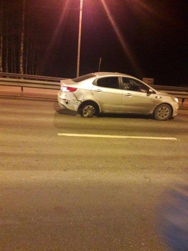 Пьяный водитель устроил массовое ДТП на Дороге Жизни (1)