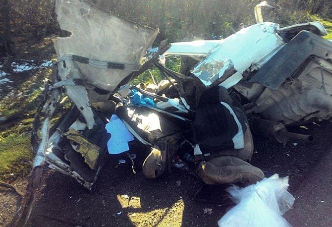 В Динском районе в ДТП «девятку» разорвало водитель погиб (2)