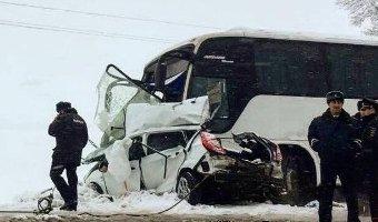 В ДТП с автобусом на Кубани погибли три человека
