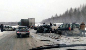 В ДТП на трассе под Краснокамском погиб человек