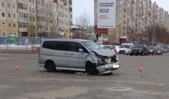 В Нижневартовске в ДТП с маршруткой пострадали четыре человека