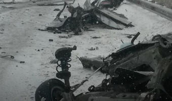 В ДТП под Уссурийском автомобиль разорвало на части