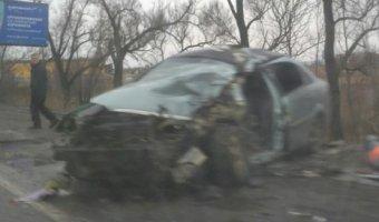 В Петербурге в ДТП с автобусом погиб водитель иномарки