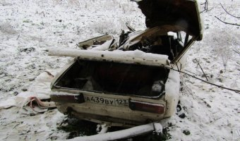В Крымском районе в ДТП на заснеженной трассе погибли трое