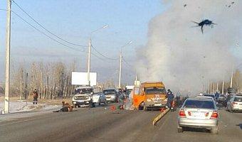 В Улан-Удэ иномарка сбила дорожных рабочих