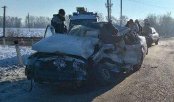 В Тихорецком районе в ДТП с КамАЗом погиб водитель Daewoo