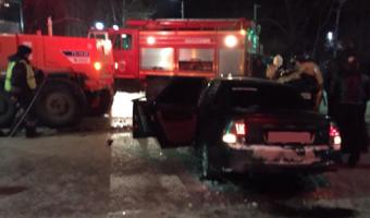 В Чапаевске в ДТП с автогрейдером погибли два молодых человека