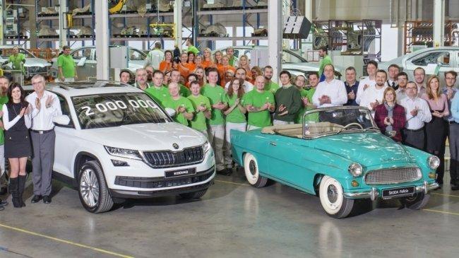 Завод Skoda в Квасинах выпустил двухмиллионный автомобиль