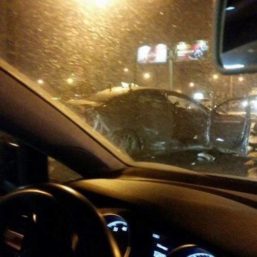 В ДТП на Ириновском проспекте в Петербурге погиб пассажир Mitsubishi (2)