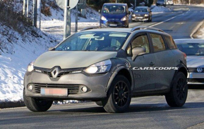 Новый Renault Captur проходит тесты в кузове универсала Clio (6)
