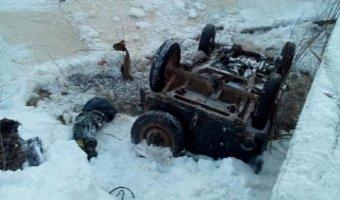 В Лысковском районе машина упала в реку: погиб мальчик