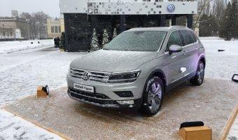 «АВТОРУСЬ» представила новый Volkswagen Tiguan в декорациях зимней сказки