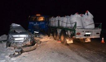 В ДТП с КамАЗом в Нефтеюганском районе погиб человек