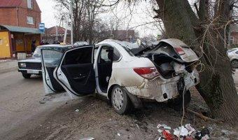 В Батайске иномарка врезалась в дерево: погибла девушка