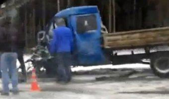 В ДТП в Подмосковье погиб водитель грузовика