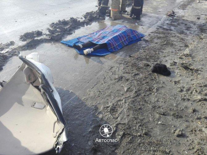 В Новосибирске Toyota врезалась в столб погибла девушка (2).jpg