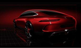Появился скетч спортивного четырехдверного Mercedes-AMG GT Concept