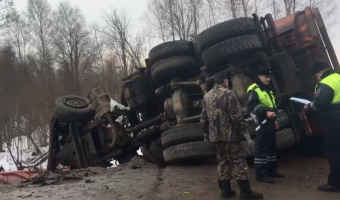 В ДТП возле Усть-Луги погиб водитель грузовика