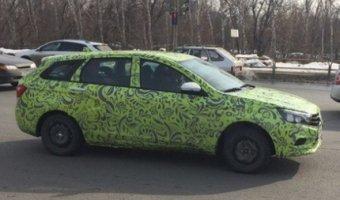 Универсал Lada Vesta замечен в Тольятти