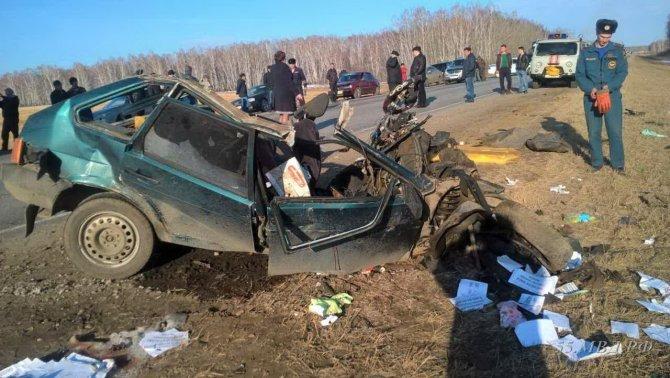 ДТП на трассе Тюмень-Омск 11 апреля, MAN и ВАЗ-21093