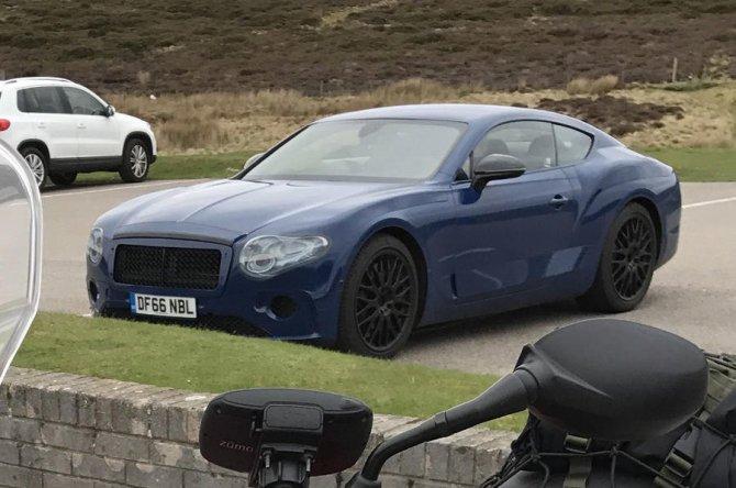 Обновленный Bentley Continental GT попал на фото без камуфляжа (1).jpg
