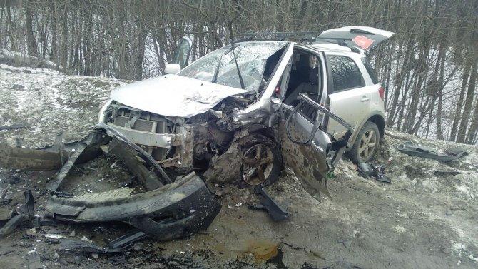 В ДТП под Уфой произошло серьезное ДТП с участием Opel Astra и Suzuki