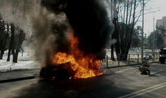 В Зеленогорске сгорела «Лада Ларгус»