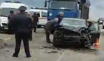 На Кубани автоледи устроила тройную аварию