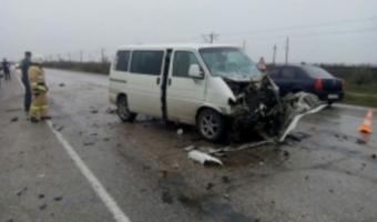 Мужчина и ребенок погибли в ДТП с микроавтобусом на трассе Евпатория — Симферополь