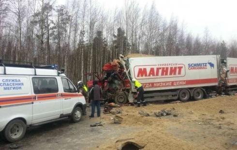 Водитель грузовика погиб в ДТП на трассе Сургут – Нижневартовск.jpg