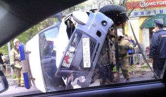 В Дзержинске опрокинулся автомобиль «скорой помощи»