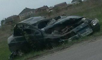 В Кузнецке у кладбища в опрокинувшемся автомобиле погиб мужчина