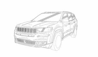 Появились официальные эскизы 7-местного SUV от Jeep