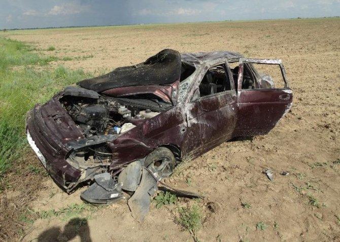 На Ставрополье в перевернувшейся «Приоре» погиб пассажир.jpeg