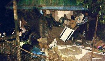 В Успенском районе КАМАЗ врезался в жилой дом