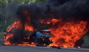 Три человека сгорели после ДТП в Канашском районе
