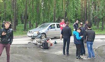 В ДТП в Среднеуральске пострадал мотоциклист