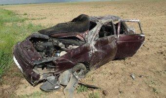 На Ставрополье в перевернувшейся «Приоре» погиб пассажир