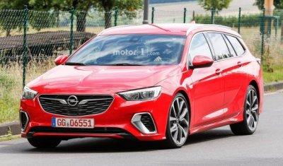 Горячий, красный, новый: новое поколение универсала Opel Insignia GSi рассекретили до премьеры