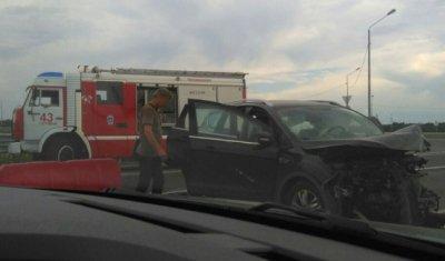 В лобовой аварии в Гатчинском районе погиб водитель «Лады»