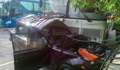 Под Тулой в ДТП с автобусом погиб водитель ВАЗа