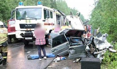 Молодая девушка погибла в лобовом ДТП в Карелии