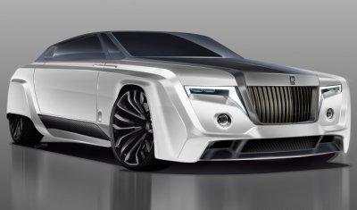 В Сети появился рендер Rolls-Royce Phantom 2050 года