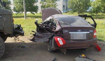 В Башкирии в ДТП с грузовиком погиб молодой водитель «Приоры»