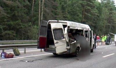 Три человека погибли в ДТП с микроавтобусом под Калугой