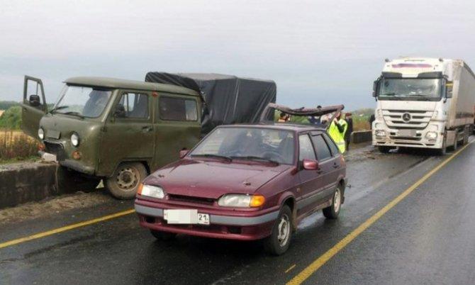 Два человека пострадали в тройном ДТП на М-7 в Чувашии.jpg