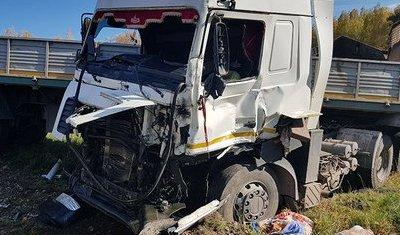В ДТП с грузовиками в Тулуне погиб водитель КамАЗа