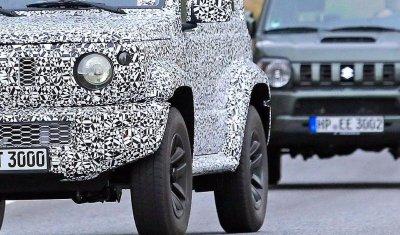 Шпионские фото Suzuki Jimny появились за месяц до премьеры