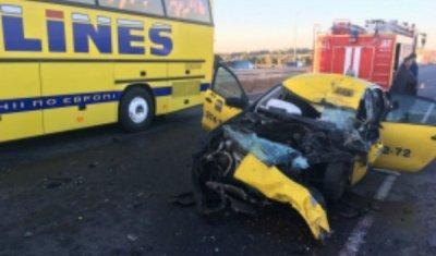 Человек погиб в ДТП с автобусом под Калугой